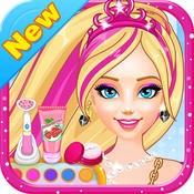 夏日美妆沙龙 - 甜心公主芭比娃娃化妆换装,儿童教育女生小游戏免费大图片