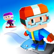 Blocky Snowboarding - 无尽街机跑酷者
