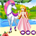 white horse princess dress up